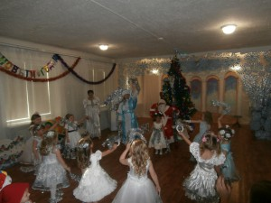 танец снежинок